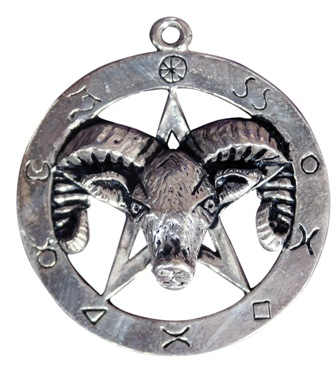 Sterling Aries Ram Pentagram Connection Amulet