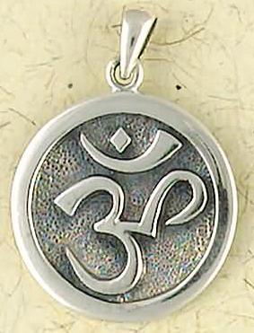 Sterling Silver Buddhist Spiritual OM Pendant