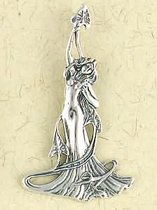 Sterling Silver Lady of The Lake Pendant