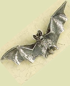 Gothic Sterling Silver Vampire Bat Pendant