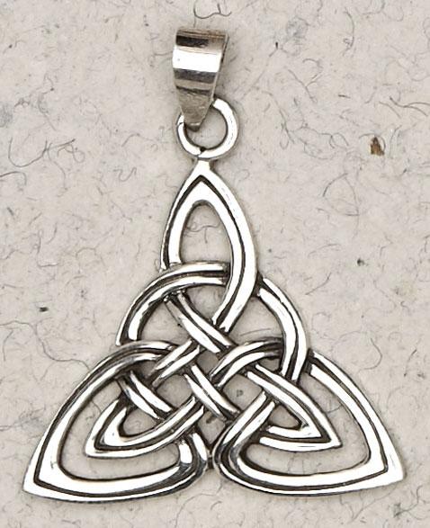 Sterling Silver Celtic Weave Triquetra Pendant