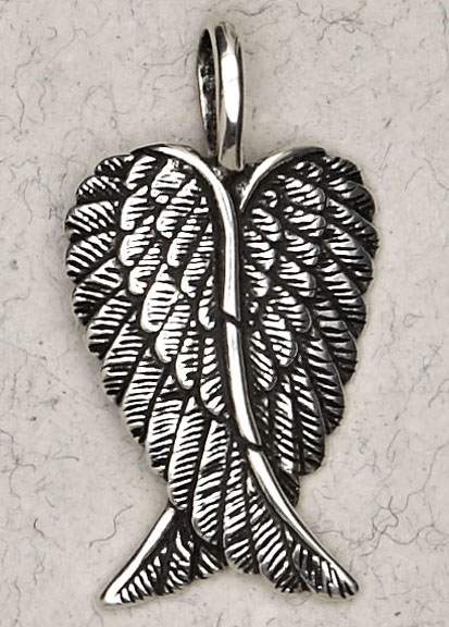 Sterling Silver Angel Wings Pendant