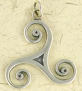 Sterling Silver Talisman Of The Sacred Three Pendant