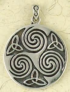 Sterling Silver The Sacred Three Talisman Pendant