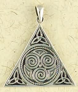 Sterling Silver Wiccan Sacred Three Pendant