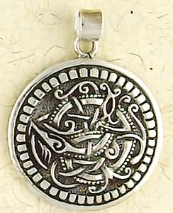 Sterling Silver Celtic Beastie Pendant