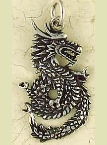 Sterling Silver Japanese Dragon Pendant