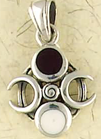 Sterling Silver Phases of The Moon Pendant