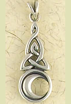 Sterling Silver Celtic Moon Pendant