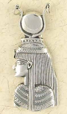Sterling Silver Large Goddess Isis Moon Pendant