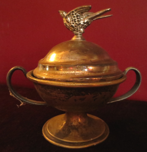 Antique Priest's Sick Call Last Rites Communion Bowl Urn