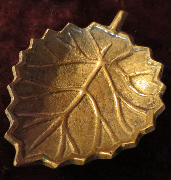 Vintage Made in India Brass Miniature Leaf Dish