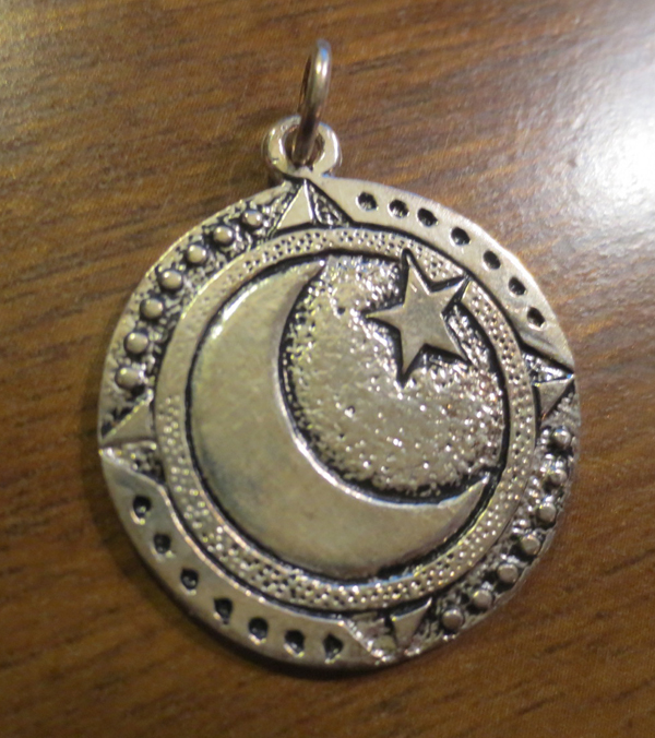 Winter Solstice Crescent Moon Pendant