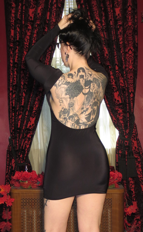 Vintage Black Sexy Backless Mini Dress Small Medium
