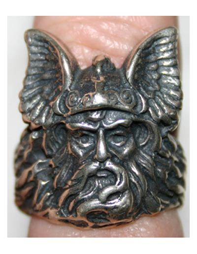 Sterling Silver Thor Viking Warrior Ring