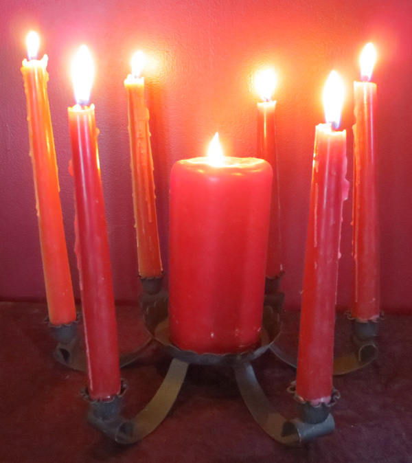 Vintage Gothic Wrought Iron Candelabra Candle Holder