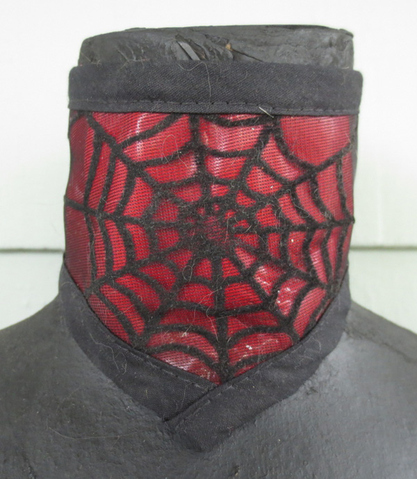 Blood Red Spiderweb Overlay Choker Neck Corset Collar