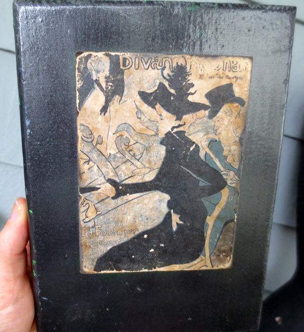 Vintage Toulouse Lautrec Divan Japonais Print Mounted on Wood
