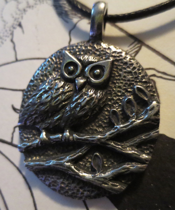 Wise Owl Protection Pendant Amulet Gothic Wiccan