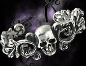 Alchemy Gothic Rockabilly Pirate Skull Cuff Bracelet
