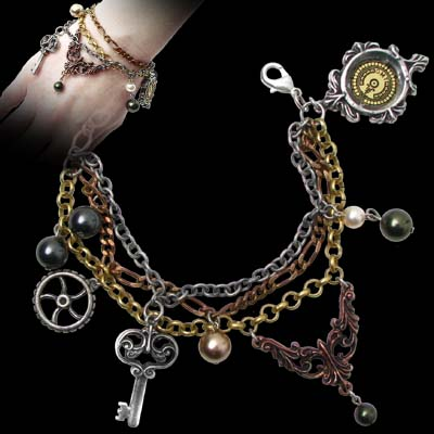 Alchemy Gothic Mrs Hudson's Cellar Keys Bracelet