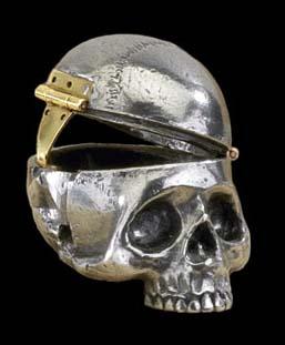 Alchemy Gothic Mortalitas Skull Pill Box