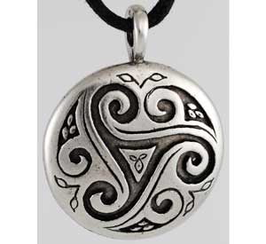 Triskele Shield Mind Body Spirit Amulet Pendant