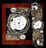 Alchemy Gothic Rose Garden Skull Watch