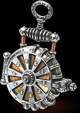 Alchemy Gothic EER Patent Solar Powered Turbine Fob Watch