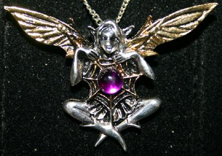 Cobweb Faerie Pendant Fairy Elf Magick