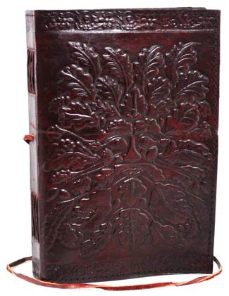 Greenman Leather Book of Shadows Spell Journal