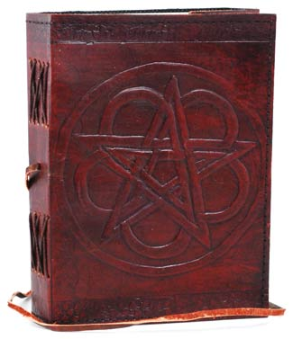 Pentagram Leather Book of Shadows Spell Journal