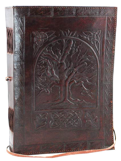Tree of Life Leather Book of Shadows Spell Journal