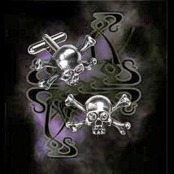 Alchemy Gothic Skull N Bones Stargazer Cufflinks