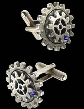 Alchemy Gothic Empire Spur Gear Steampunk Cufflinks