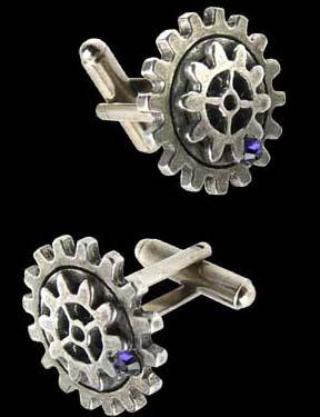 Alchemy Gothic Empire Spur Gear Steampunk Cufflinks