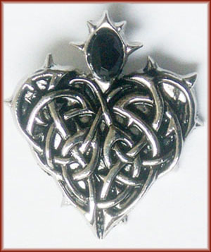 Barbed Heart for Eternal Love Amulet Pendant