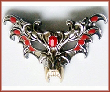 Masque of the Vampire for Immortality Pendant