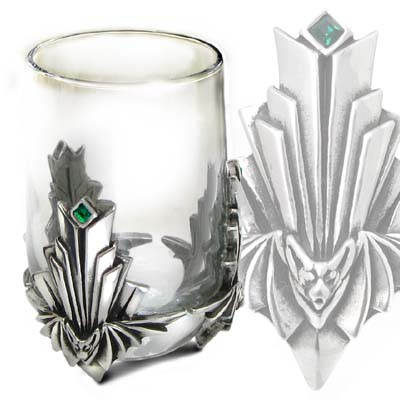 Alchemy Gothic Chrysler Bat Art Deco Shot Glass