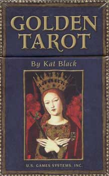 Middle Ages Golden Tarot Deck & Book Kat Black