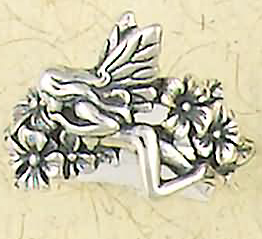 Sterling Silver Nude Fairy Pixie Nymph Ring