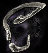 Alchemy Gothic Serpent of Eden Snake Temptation Earring