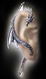 Alchemy Gothic Dragons Lure Wrap Earring