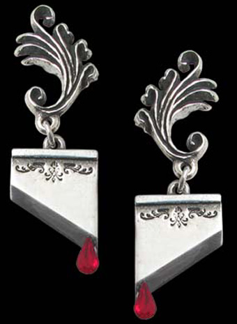 Alchemy Gothic Marie Antoinette Guillotine Earrings