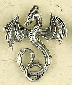 Celtic Dragon Ritual Amulet Pendant