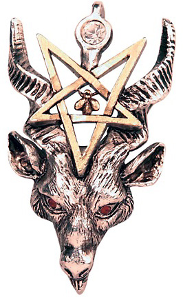 Baphomet Inverted Pentagram Witchcraft Pendant