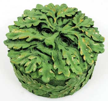 Round Greenman Jewelry Trinket Box