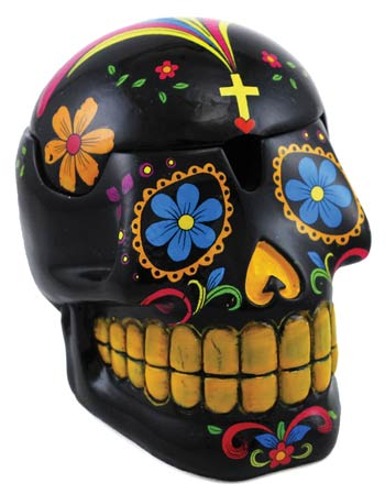 Black Day of the Dead Mexican Skull Box