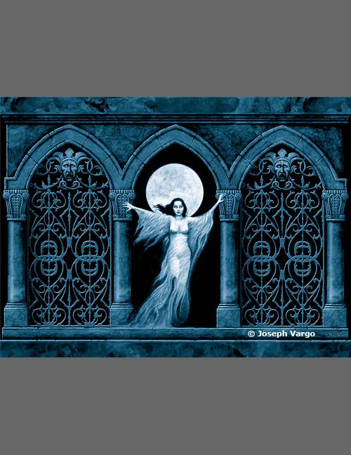 Monolith Graphics Gothic Postcard Ghost at The Gate