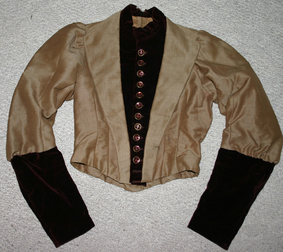 Antique Victorian Burgundy Velvet Ladies Bodice Top
